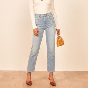 NWT Reformation Claudia High Relaxed Jean Curacao